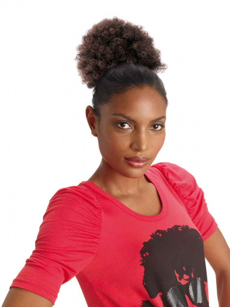 Sleek Afro Drawstring  Hair Bun - Medium